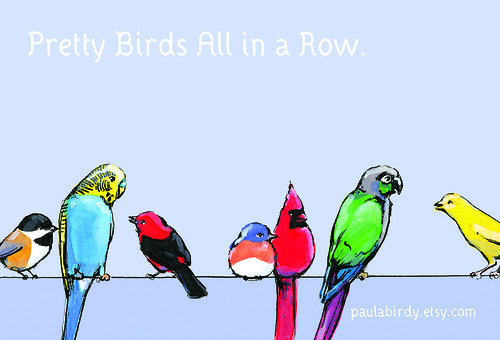 Prettybirds postcard sample.