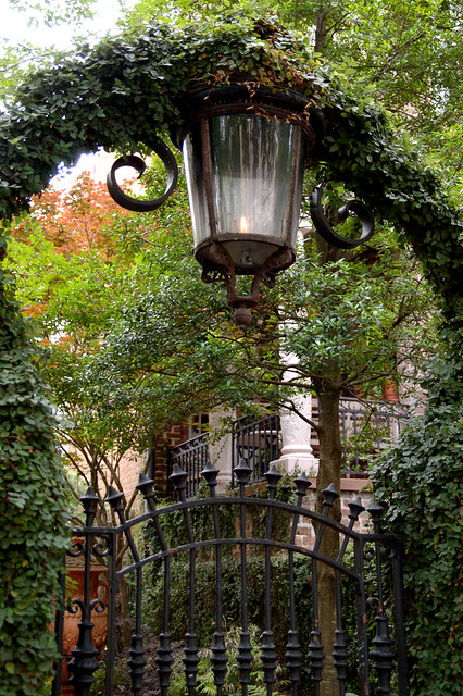 Flame Street Lamp and Garden Entrance