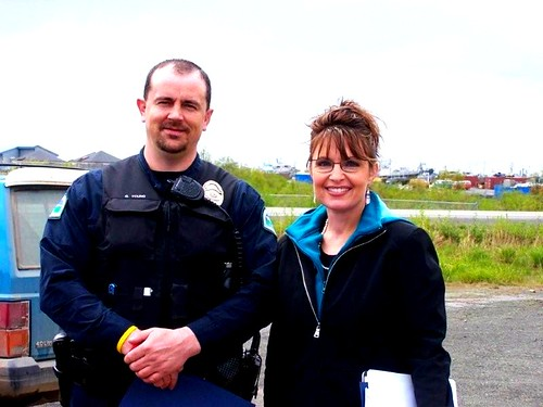 Officer Young with Governor Sarah Palin (by Leaca's Philosophy)