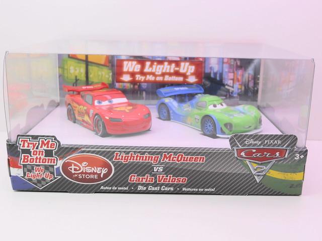 disney store cars 2 lightning mcqueen vs carla veloso