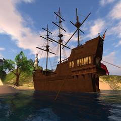 Pirate ship off the Isles of Fatima