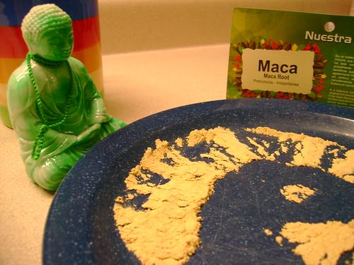 Buddha likes maca.