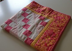 Finished quilt! - folded