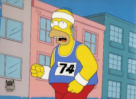 Homer Running Home