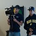 Jason Durdon and Danny Torres on set of The Absents