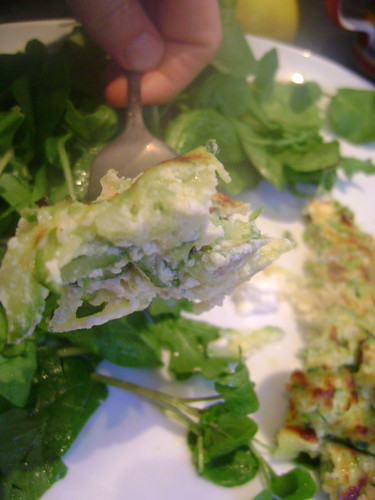 Courgette Frittata - the action shot