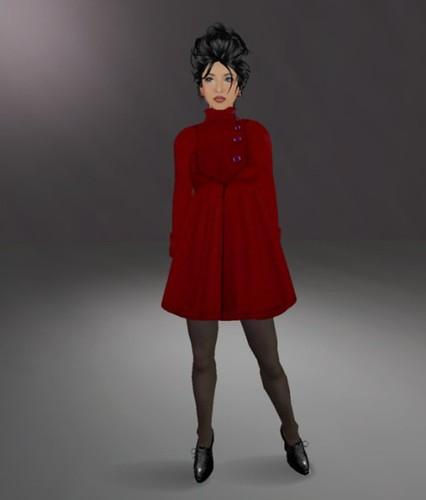 me in Ivalde's Jenna coat