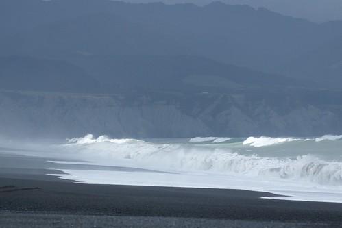 big surf at Lake Ferry