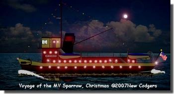 Sparrow underway on Christmas Eve ©2007 New Codgers