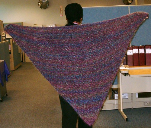 Garter stitch shawl 5