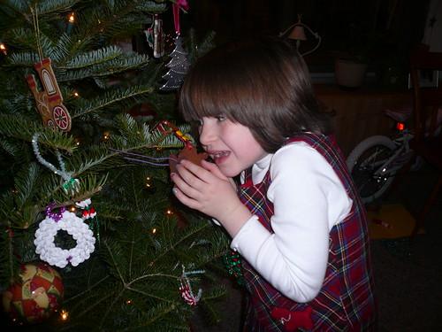 Ella loves the tree...