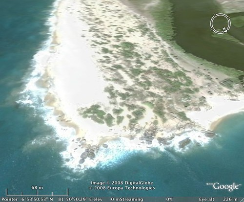Potuvil Point - Google Earth close up facing South