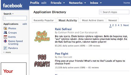 The Poo Fight Facebook App - One of the most active in Facebook *sigh*