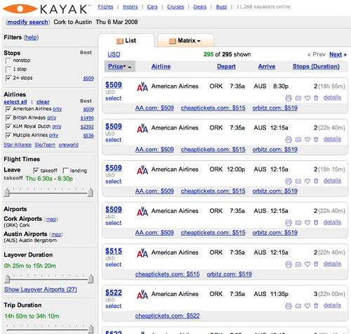 Kayak.com ORK - AUS