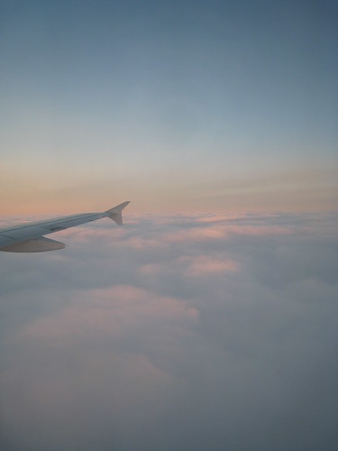 Morning in the sky, above the Paris clouds.
