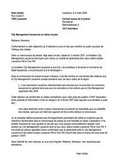 Lettre au Conseil suisse de la presse