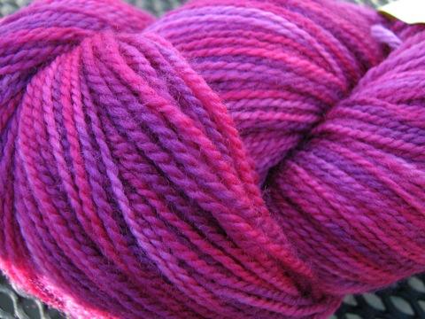 Fearless Fibers Raspberry Superwash Sock Yarn