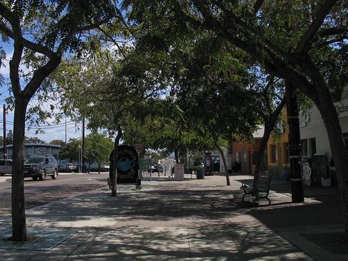 inner city neighborhood square