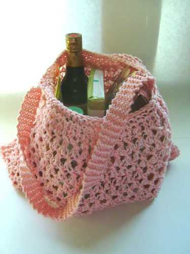 knit shopping bag