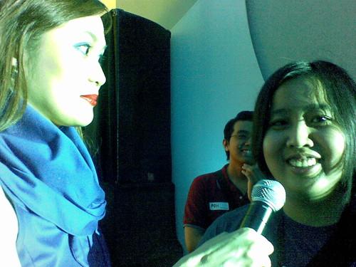 Karla being interviewed