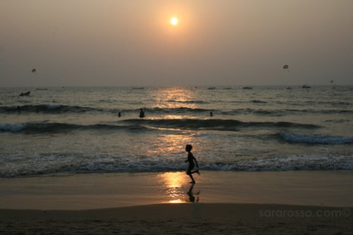 Sunset on Baga Beach, Goa, India
