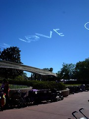 Disney skywriting