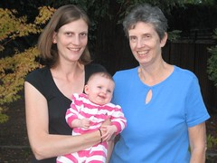 Three generations of strong women