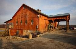 The barn/wedding site.