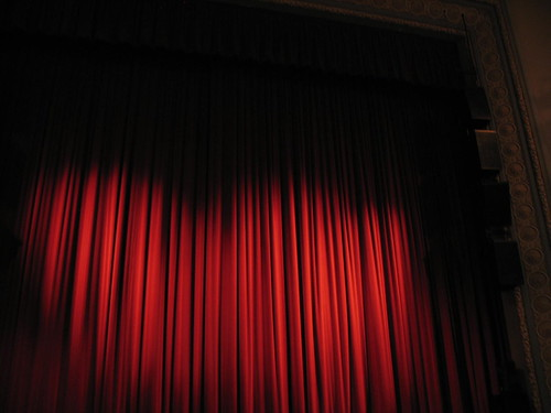 Curtains At The Fitzgerald, during MPR's Talking Volumes with Keri Miller, and Guests Galway Kinnell and Josephine Dickinson, April 2007,photo © 2007 by QuoinMonkey. All rights reserved.
