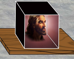 God in box on shelf_(Rights available upon fli...
