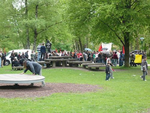 Kundgebung im Lehener Park