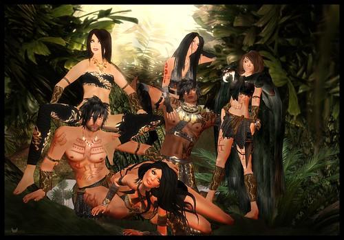 Savage Group pose