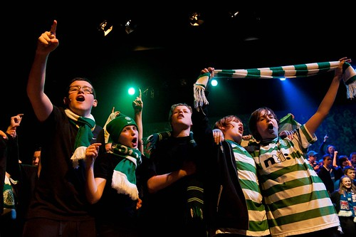 Football scene, Celtic fans