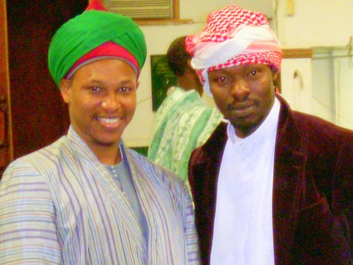 Saifuddin and a fellow Fulani from Senegal.