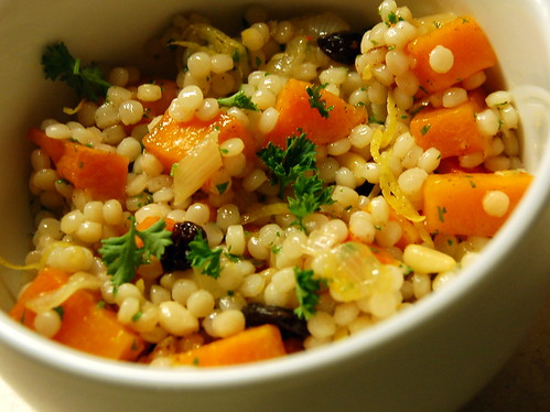 israeli couscous with roasted butternut squash and lemon