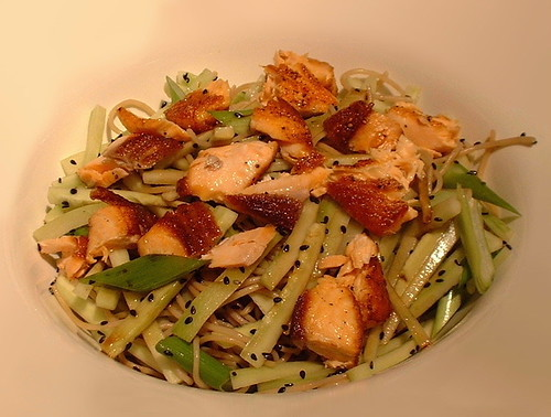 Salmon and Soba Noodles