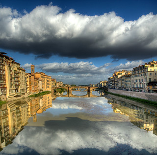 Looking down the River Arno