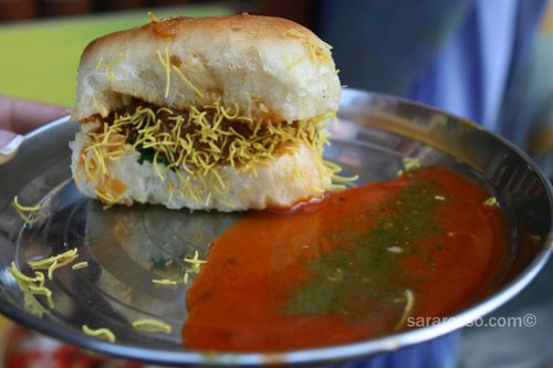 Dabeli on the streets of Gujarat, India