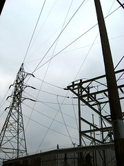 Substation Wires Sky