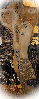 Gustav Klimt. Mural. Serpientes de agua I, 1904-07.