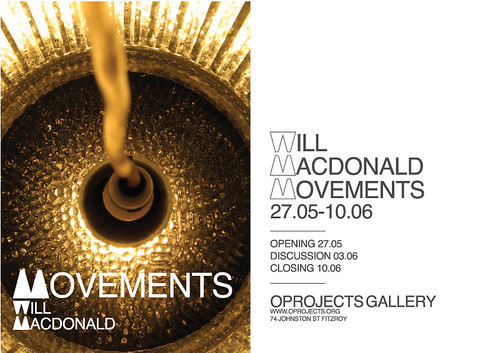 Movements exhibition @Oprojects flyer