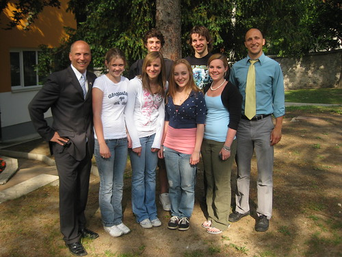 I am pictured with a group of our Amercian Students