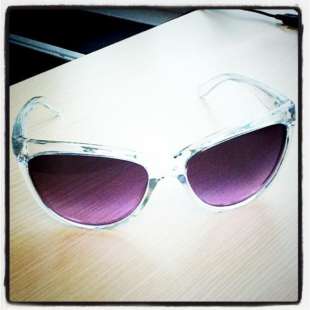 New Oakley shades with purple tint...if only there was sun.