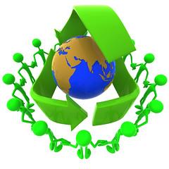 Holding hands around the world, teamwork, earth, globe, global, team, recylce
