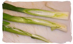 green onion sliced