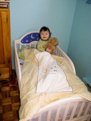 Khéna's new bed