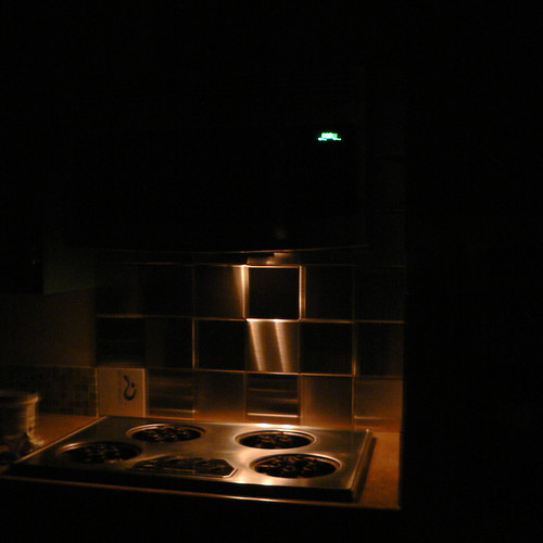 Automatic nightlight in microwave