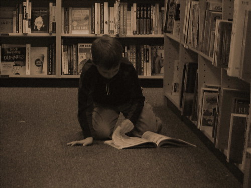 Drew Reading at Boarders