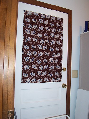 Laundry room curtain