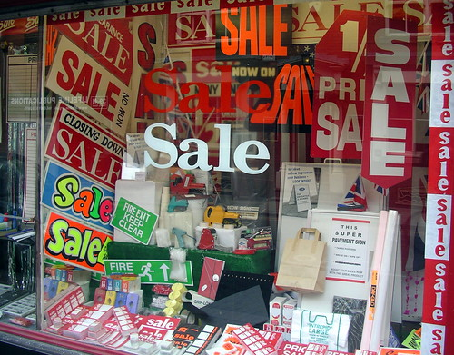 Sale in a shop selling Sale signs. Brilliant!